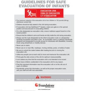 First Responder Evacuation Protocol Sign
