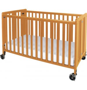 Hideaway Full-Size Folding Crib w/Mattress