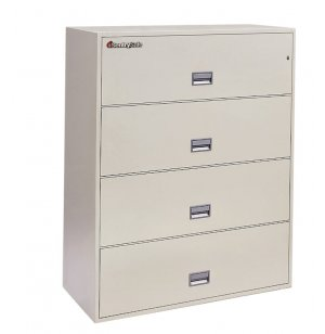 4 Drawer Lateral File Cabinet - Impact Resistant