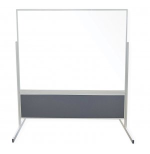 Double-Sided Porcelain Magnetic Whiteboard Divider