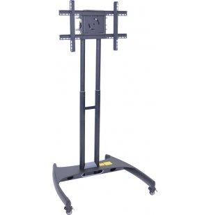 Adjustable Height Flat Panel TV Cart
