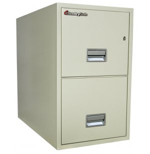 2 Drawer Vertical Letter File Cabinet - Impact Resistant
