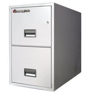 2 Drawer Vertical Legal File Cabinet - Impact Resistant