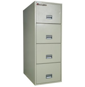4 Drawer Vertical Legal File Cabinet - Impact Resistant