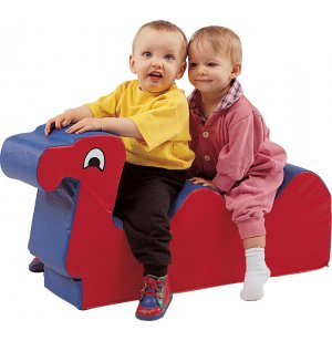 Nessie Double Ride On Soft Play Animal