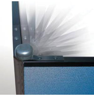 Position Control Hinges for 3-Panel Light Duty Partitions