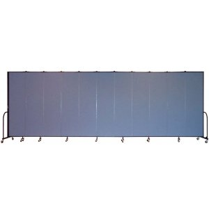 FREEstanding Portbl Partition 11 Panel w/Conctr