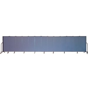 FREEstanding Portbl Partition 13 Panel w/Conctr