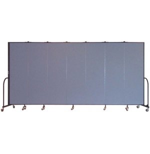 FREEstanding Portable Partition 7 Panel w/Conctr