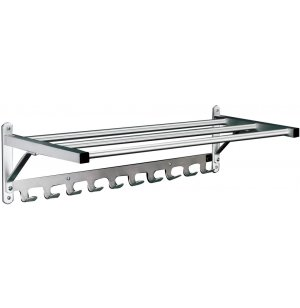 Value-Line Wall Rack w/Shelf & Hooks - 2ft