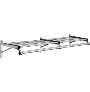 Value-Line Wall-Mounted Coat Rack w/ Shelf - 6ft.