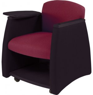 Two-Tone Arm Chair w/Black Finish & Storage Compartment