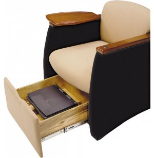 Two-Tone Genesis Team w/Wood Finish & Storage Drawer