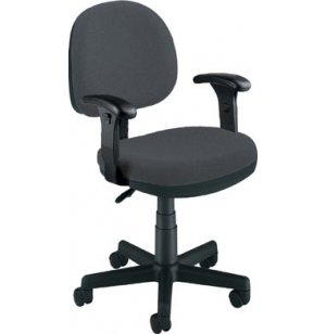 Light-Duty Task Office Chair- Adjustable Arms