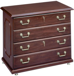 Governors Lateral File with 2 Locking Drawers