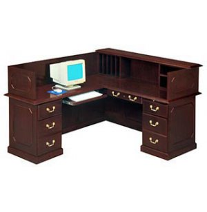 Reception Office Desk- Left Return & Panel