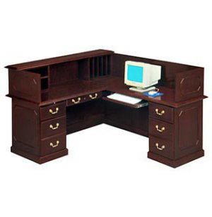 Reception Office Desk - Right Return & Panel