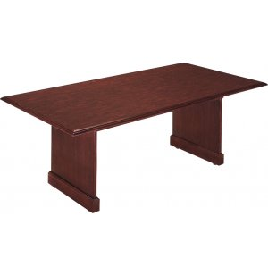 Rectangular Conference Table with Slab Base
