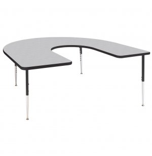 Group Study Adjustable Horseshoe Preschool Table