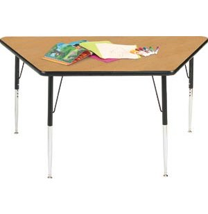 Group Study Adjustable Trapezoid Preschool Table
