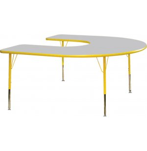 Prima Adjustable Horseshoe Activity Table