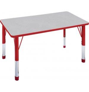 Hercules Adj. Rectangle Activity Table - Color Trim