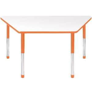 Hercules Adj. Trapezoid Activity Table - Color Trim