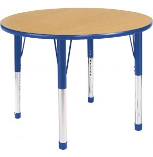Hercules Adjustable Round Activity Table- Color Trim