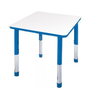 Hercules Adjustable Square Activity Table- Color Trim