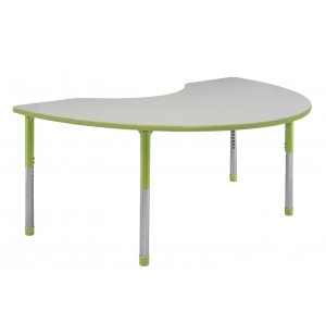 Hercules Adjustable Kidney Activity Table- Color Trim