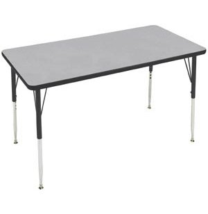 Group Study Adjustable Rectangle Preschool Table