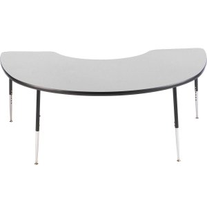 Group Study Adjustable Kidney Shaped School Table