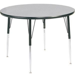 Group Study Adjustable Round Preschool Table