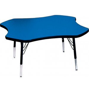 Group Study Adjustable Clover Preschool Table