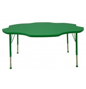 Group Study Adjustable Flower Preschool Table