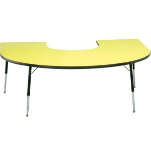 Group Study Adjustable Horseshoe Activity Table