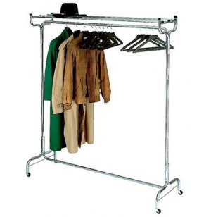 Portable Coat Rack with Hat Shelf and Hangers