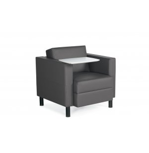 Antimicrobial Lounge Chair with MDF Tablet