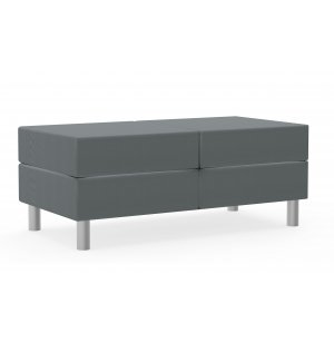 Antimicrobial Two-Seat Bench