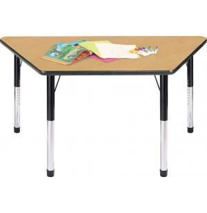 Hercules Adjustable Trapezoid Activity Table w/ Casters