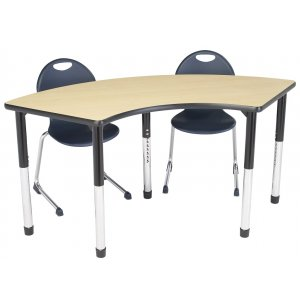 Hercules Adjustable Height Arc Activity Table