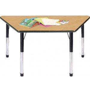 Hercules Adjustable Height Trapezoid Activity Table