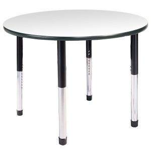 Hercules Adj. Round Activity Table w/ Casters