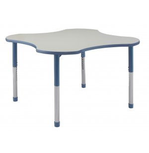 Hercules Adjustable Height Clover Activity Table