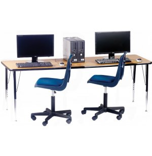 Adjustable Rectangular Computer Table