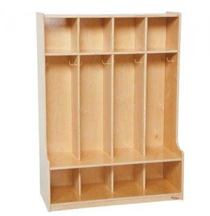 Preschool Seat Lockers - 4-Section