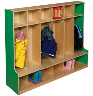 Healthy Kids Colors 6-Section Seat Locker