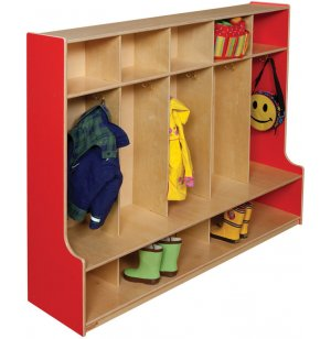 Healthy Kids Colors 5-Section Seat Locker