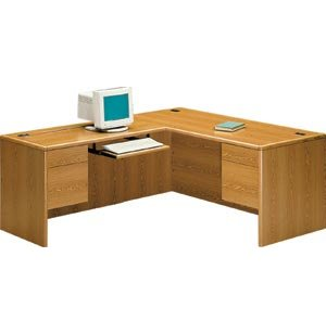 HON L-Shaped Office Desk w/Left Return