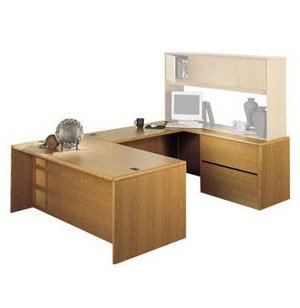 U-Shaped Office Desk with Right Lateral Credenza